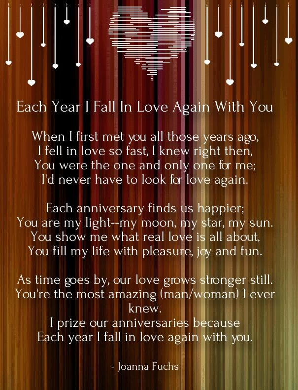 short anniversary poems