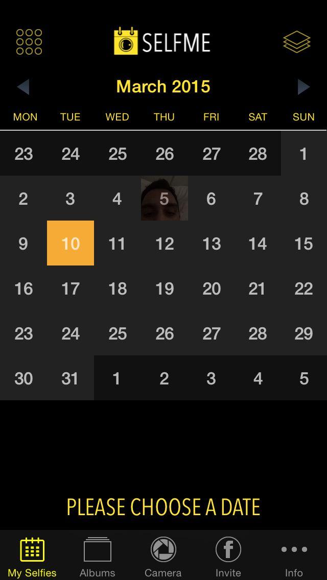 Calendar View #selfmeapp