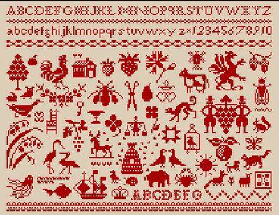 Small cross stitch motifs ♥ Korsstygns-Arkivet ♥: MÅNGA MÖNSTER FÖR KORSSTYGNSBRODERI.GÖR DIN EGEN MÄRKDUK.