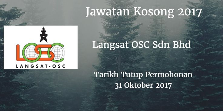Jawatan Kosong Langsat OSC Sdn Bhd 31 Oktober 2017  Jawatan KosongLangsat OSC Sdn Bhd  Johor 2017 Langsat OSC Sdn Bhd Johor membuka peluang pekerjaan Langsat OSC Sdn Bhd  terkini 2017 ini.  Jawatan Kosong Langsat OSC Sdn Bhd 31 Oktober 2017  Warganegara Malaysia yang berminat kerja Langsat OSC Sdn Bhd  Johor dan berkelayakan dipelawa untuk memohon kekosongan jawatan : 1. Senior Technician Facilities - Candidate must possess at least Professional Certificate in Engineering (Electrical/Electronic/Mechanical) or equivalent. At least 2 years of working experience in related field Preferably Non-Executive specialized in Engineering Experience in overall building maintenance including electrical. plumbing. sanitary. air condition and other repair and renovation. Maintain overall building & property upkeep in optimum function for property of company carry out routine inspection. surveillance & improvement to ensure safety & security measures Self-motivated. well-organized and responsible. 1. Account Assistants Account a - Variety of general accounting Finance - Knowledgeable on Accounts Receivable 8. GST matter Responsible for providing financial. administrative and clerical Assist during year end & GST audit Min Diploma strong knowledge in account & finance 8. strong communication in Bahasa & English language with 2 year experience in related field 1. Tally Clerk Logistics - Min SPM. well maintain storage. can drive forklift & can communicate in Bahasa 8. English language with 2 year experience in Logistic & warehouse Responsible for providing tally sheet (lN/OUT) Key in data inventory and clerical for custom document 1. Internship Responsibilities lntemship - Variety of general work Student - Knowledgeable on Microsoft software Responsible key in data at financial. administrative and clerical Responsible for contributing to the overall success of the internship experience Strong communication in Bahasa & English language Only short listed application will be called for further process. Last submission is 31st of October 2017. Please forward your CV along-with covering letter last pay-slip and all document related with your CV included (Current & Expected salary) to Hrlosc@losc.com.myPLO 209. Jalan Rasau. Kompleks Perindustrian Tanjung Langsat. 81700 Pasir Gudang. Johor via JobsJohor Jawatan Kosong Johor 2017 Johor