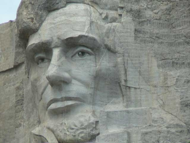 Abraham Lincoln.  Mount Rushmore National Park, SD.