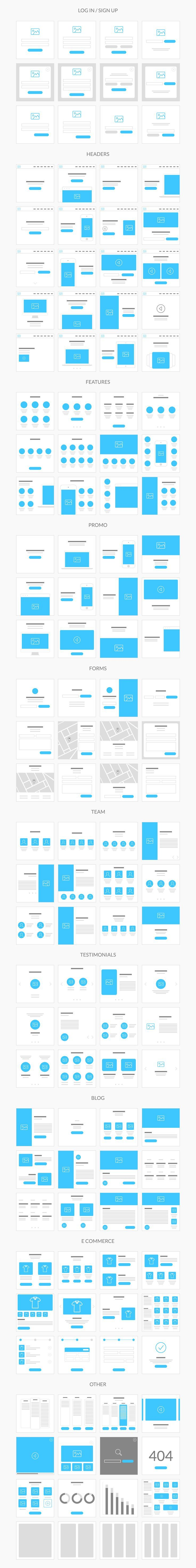 Flowy is made with fast workflow in mind, so we created 236 ready to use templates, built on the 1170 grid and in Photoshop file format. You can create flowcharts for both mobile and web projects of any complexity and show them to your team or clients in