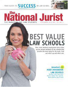 Texas Tech University School of Law has again earned a Top 20 ranking by The National Jurist magazine in its Best Value Law Schools issue. Listed at No. 18, up from No. 20 in 2011, Texas Tech Law is once again the only Texas law school ranked this year.