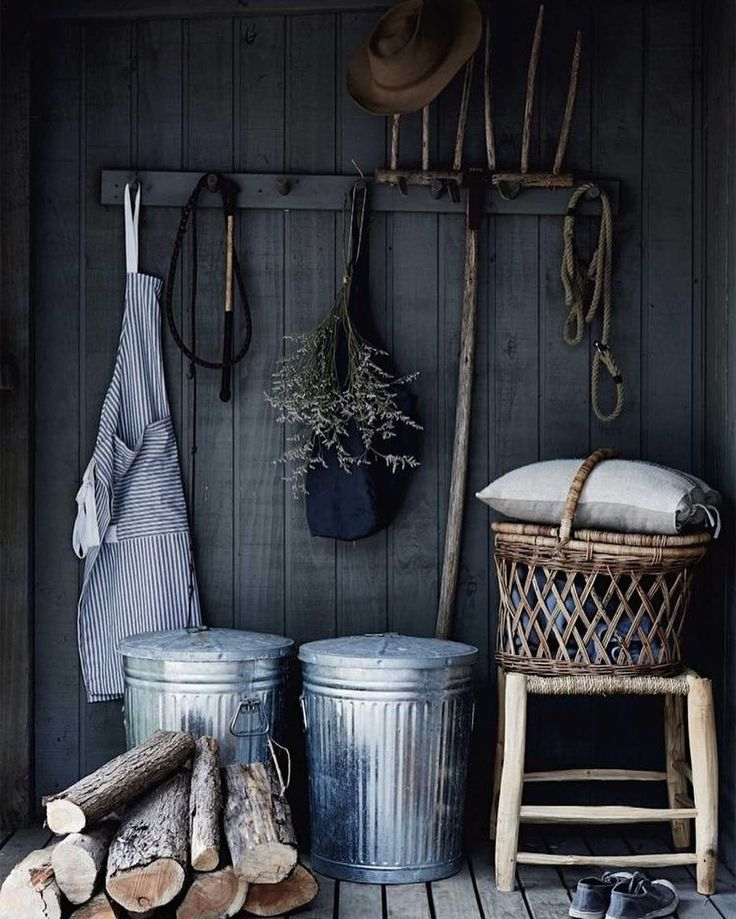 Charcoal love Mud room inspiration  Happy Monday