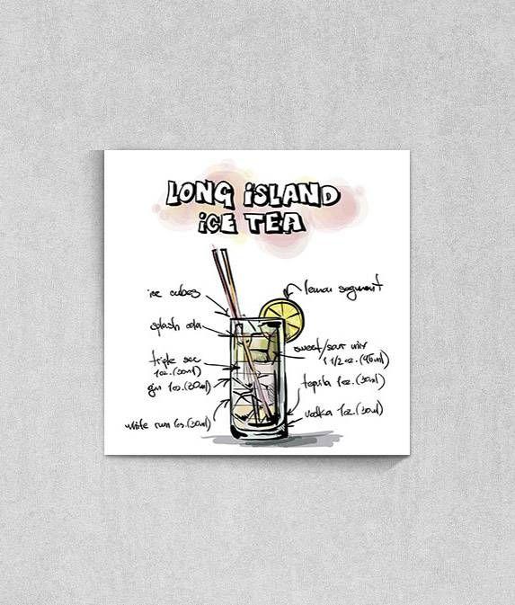 Poster Gourmet Coleção Drinks 'Long Island Ice Tea' da TopQuadros.com.br
