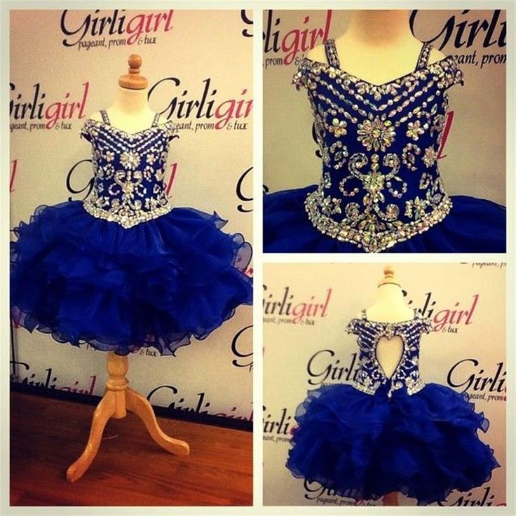 Little Girl Flower Girl Dresses Gorgeous Royal Blue Little Girls Dress With Beaded Bodice And Ruffled 2016 Shine Short Pageant Dress For Princess Pageant Designs From Gaogao8899, $71.63| Dhgate.Com