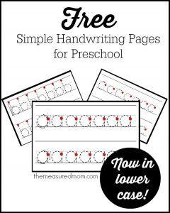 44 best Handwriting for Kindergarten images on Pinterest