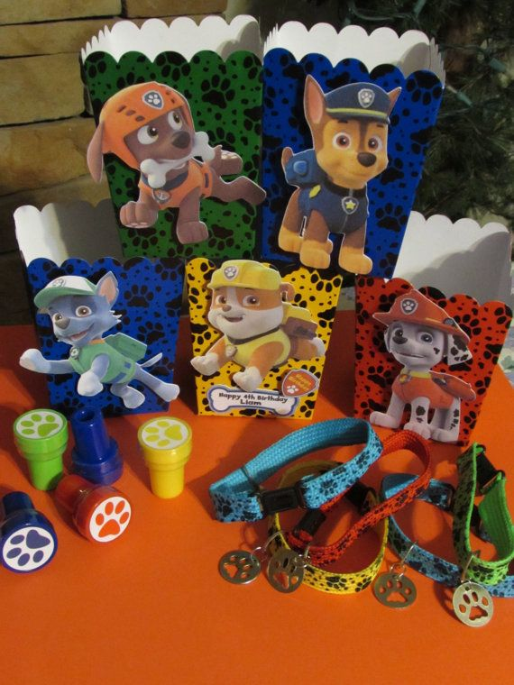 Paw Patrol Favors and Boxes on Etsy, $3.00: