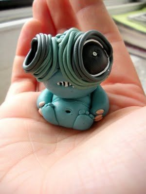 polymer clay cute monster