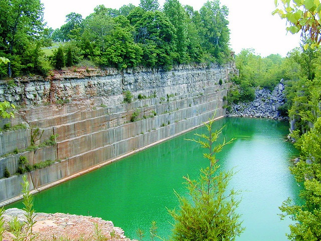 Limestone quarries from my home county.