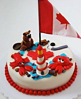 Adorable Canada Day cake!