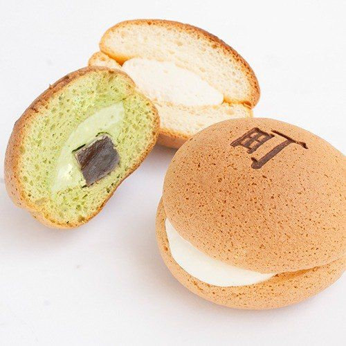 [II] Japanese town -Nimachi soufflé - II-cho burned (brown sugar into mochi green tea -6 / box)