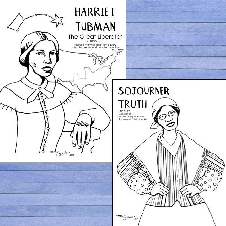 Harriet Tubman North Star Coloring Page Star Coloring Pages