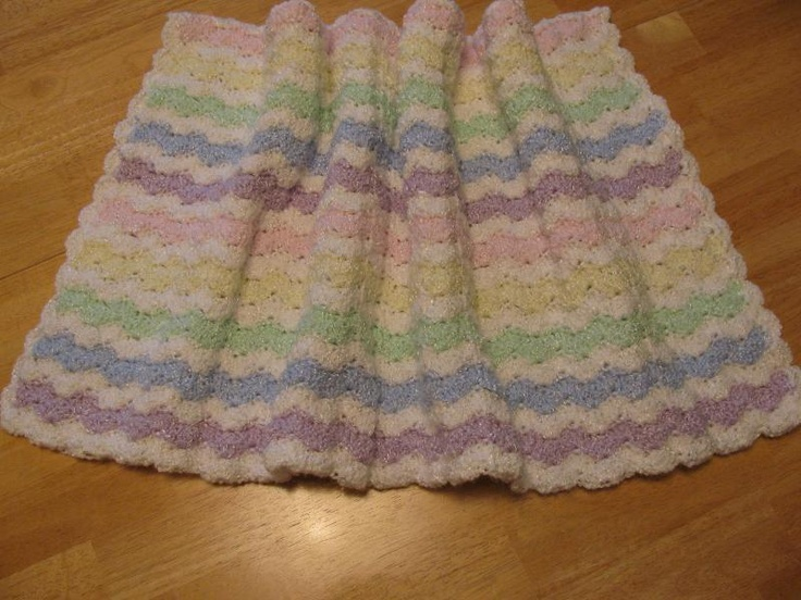 Knit Shell Stitch Baby Blanket : Baby Shell Stitch Afghan knitting & crocheting Pinterest Shells, Cr...