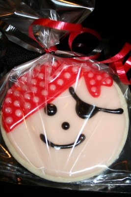 Pirate Cookies, just for you, Dylan!