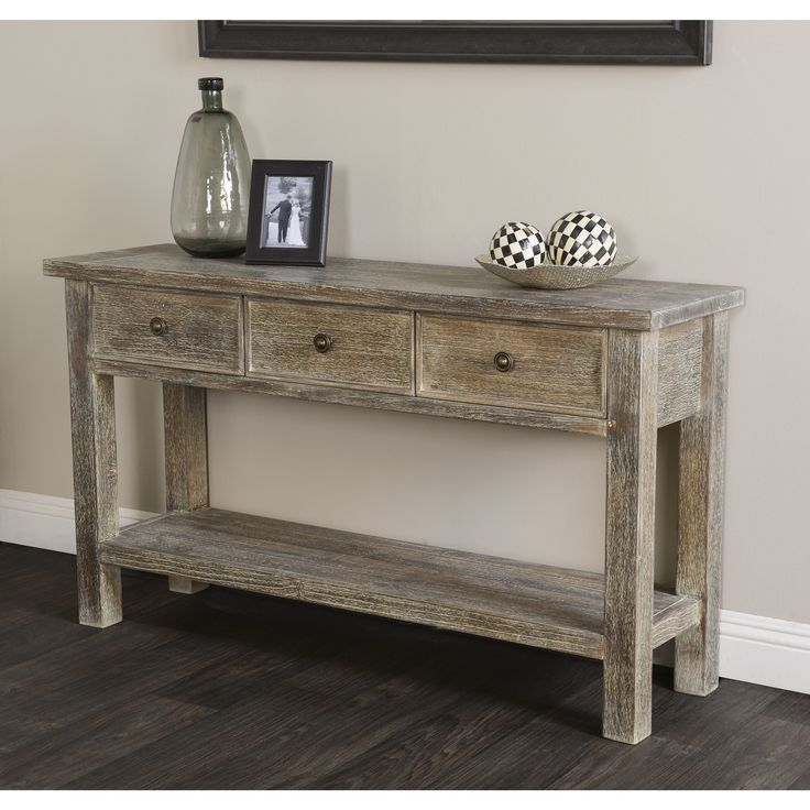 Neutral Nautical Living Room See More Rockie Rustic Wood Console Table By Kosas Home Brown