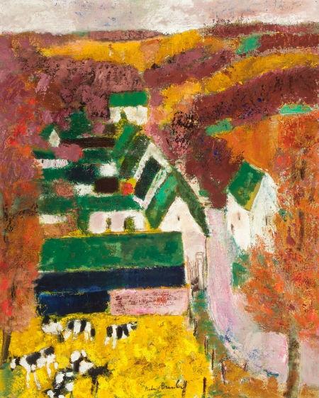 """ANDRÉ BRASILIER (French, b. 1929). """"Cauxcéré, Aisne,"""" 1961. Oil on canvas."""