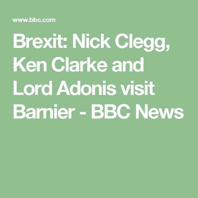 Brexit: Nick Clegg, Ken Clarke and Lord Adonis visit Barnier - BBC News