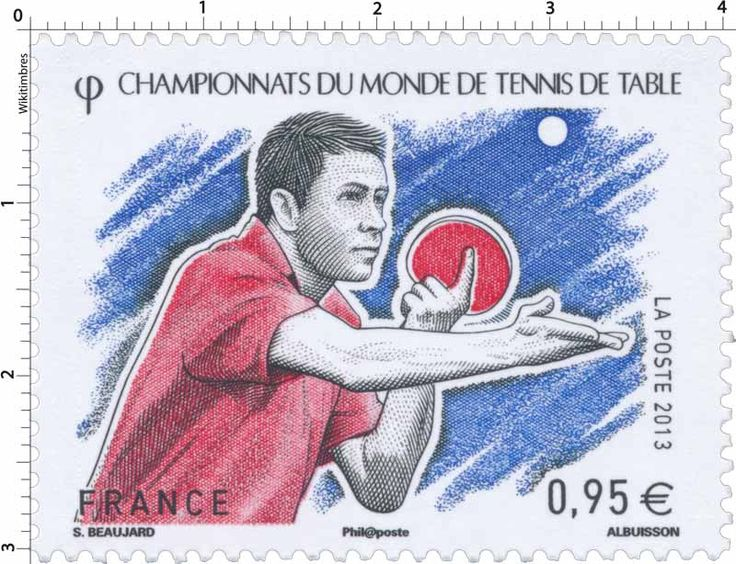 20 best new stamps issue released by stamperija no 627 images on pinterest stamping stamps - Tennis de table championnat du monde ...