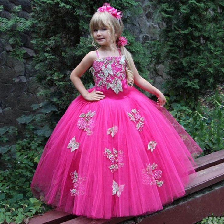 Find More Flower Girl Dresses Information about Lovely Fuchsia Gold Butterfly Flower Girl Dresses Kids Evening Gowns Communion Dress Holy Communion Dresses Girls Ball Gown ,High Quality gowns china,China girl ball gown Suppliers, Cheap girl pageant gowns from Suzhou Yast Wedding Dress Store on Aliexpress.com