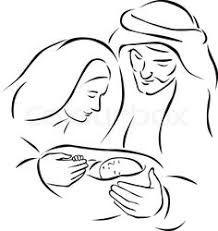 Resultado de imagen para sagrada familia navidad dibujo