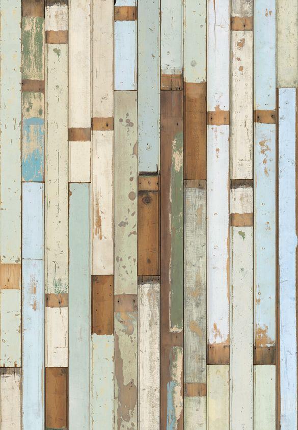 Effect van verschillende houtstroken (vloer) met blauwtinten