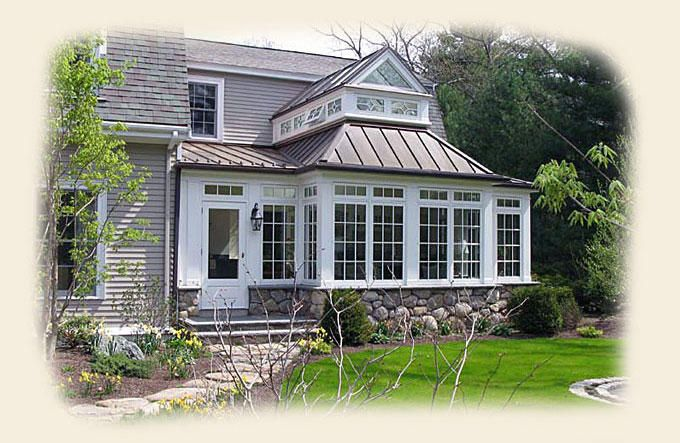 A Greenhouse On The Front Of A Dutch Colonial Home