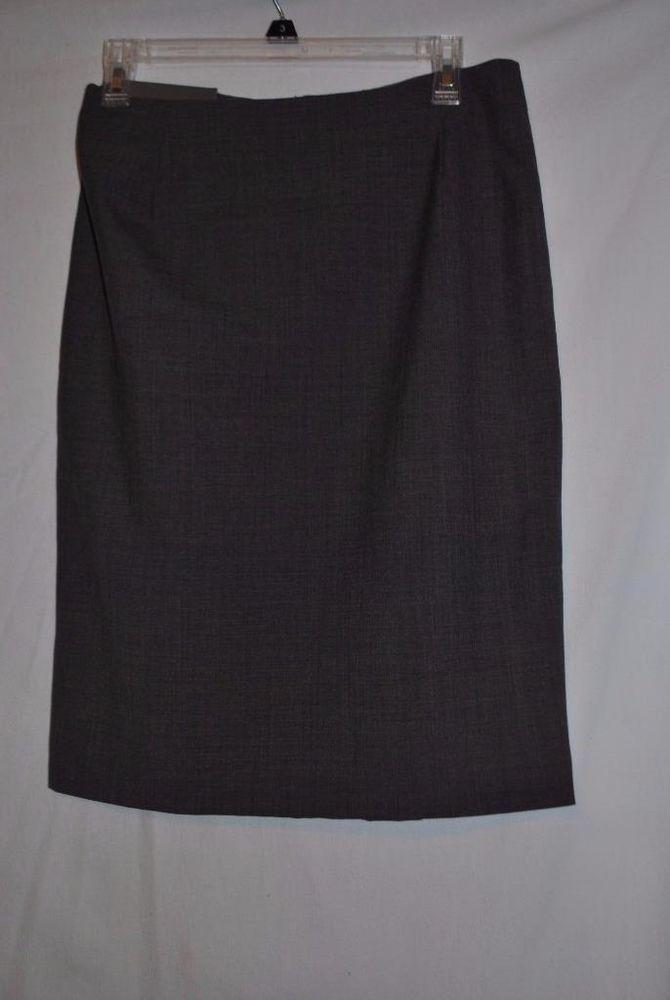 BITTEN Sarah Jessica Parker Pencil Skirt Gray 8 NEW With Tags #BITTEN #StraightPencil
