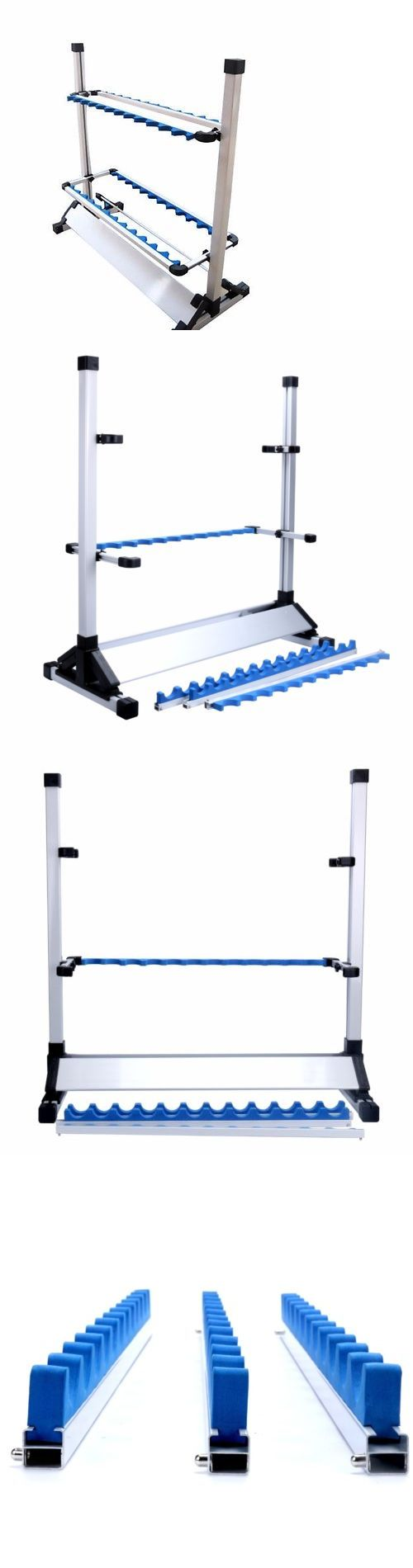 Rod Rests and Holders 72665: Hot Sale White Fishing 24 Rod Rack Pole Holder Aluminum Alloy Stand Storage Tool -> BUY IT NOW ONLY: $44.83 on eBay!