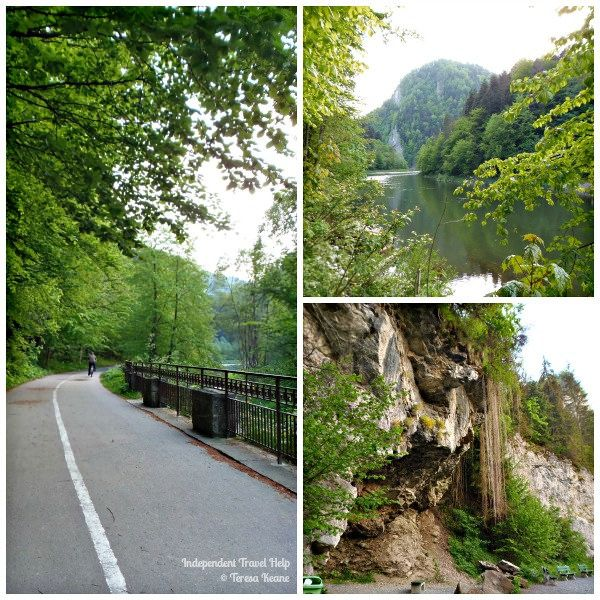 The gorgeous Pieniny National Park that straddles Poland and Slovakia.  Walk from one country to the next in a day as you walk through this national park.
