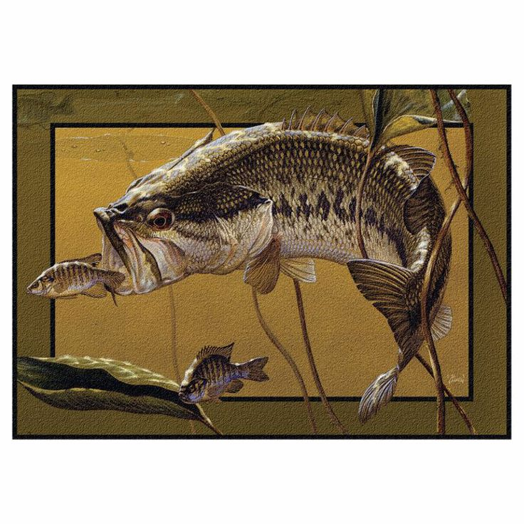 Bass pro shops area rug 39 39 golden moment 39 39 by al agnew for Bass pro fishing sale