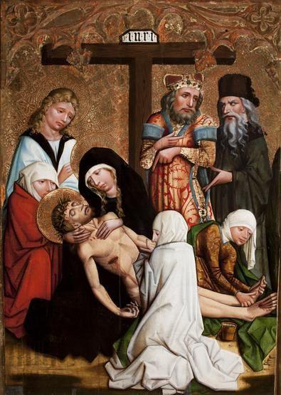 Opłakiwanie, Rzeź Niewiniątek. Kwatera z retabulum ołtarza głównego z kościoła dominikanów w Krakowie, ok. 1465