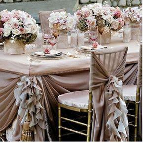 Бледно-Розовый Взъерошил Свадебного Стола Дизайн ♥ Свадьбу, Украшения