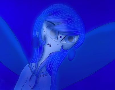 """Check out new work on my @Behance portfolio: """"Blue Fairy"""" http://be.net/gallery/38240971/Blue-Fairy"""