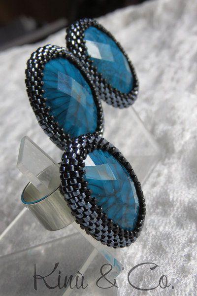 Parure earrings and ring 60s style - Parure stile anni 60 di Kinù & Co. su DaWanda.com