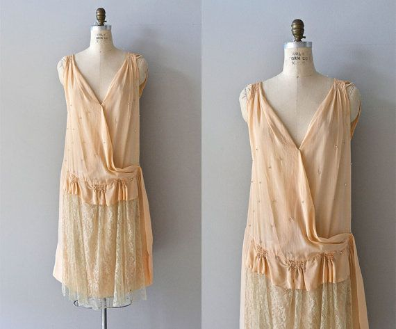 SALE La Petite Poupée dress • vintage 1920s dress • lace and silk 20s dress