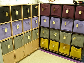 These student cubbies give you a place to deliver paper, and students a place to store their supplies.