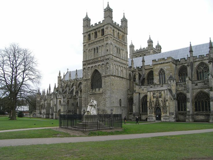 Years built-1112-1400.Exeter Cathedral,known as the Cathedral Church of Saint Peter at Exeter,is an Anglican cathedral,and the seat of the Bishop of Exeter,in the city of Exeter,Devon,in South West England.The present building was complete by about 1400.Style- Norman,Gothic.
