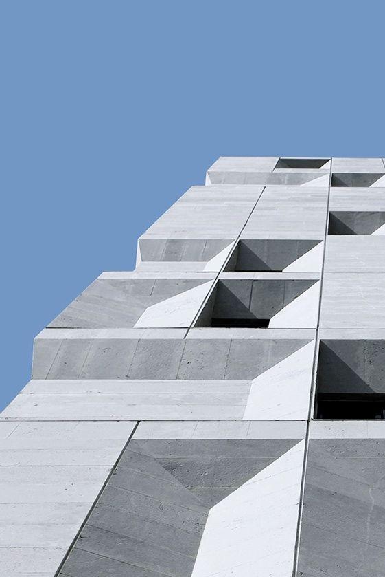 Concrete Building Facade : Ryra studio sipan residential building tehran