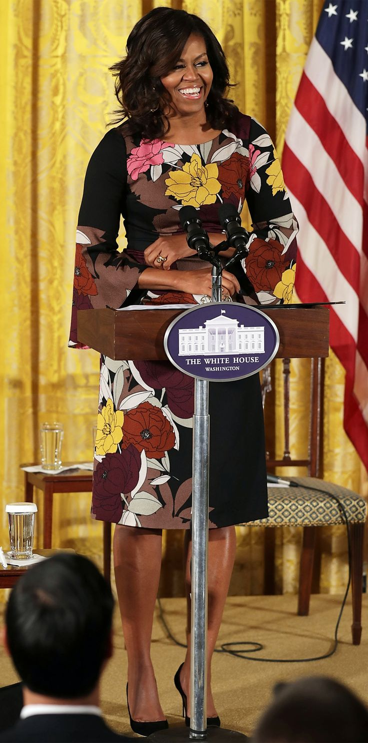 Michelle Obama's Best Looks Ever - 2016 - Tracy Reese from InStyle.com