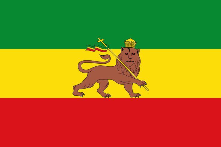 Flag of Ethiopia (1897-1936; 1941-1974) - Leone di Giuda - Wikipedia