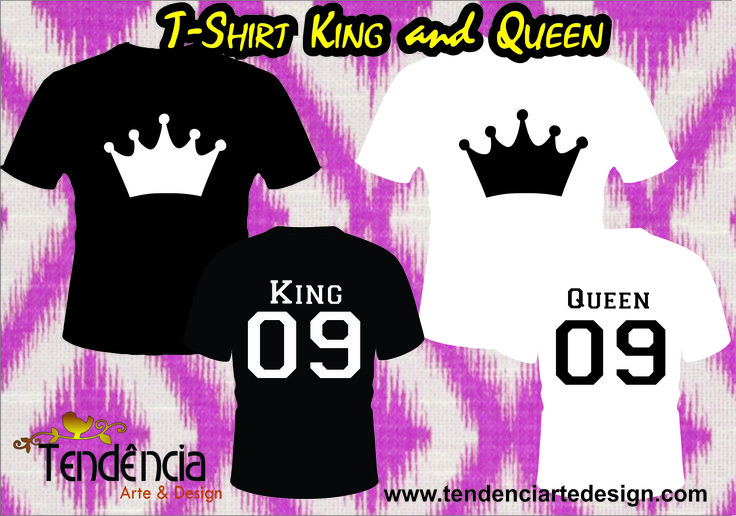 T-shirt King and Queen