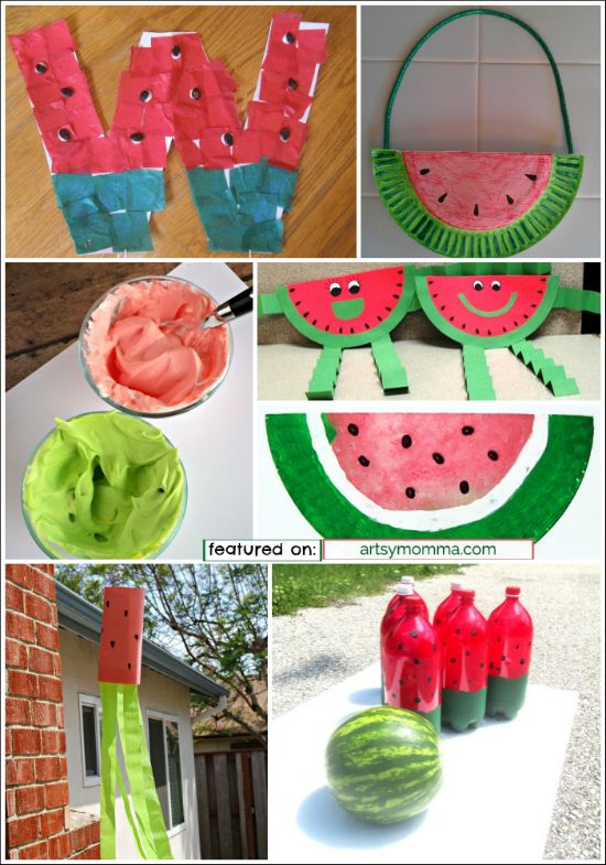 Fruit Basket Art And Craft : Best images about watermelon crafts on