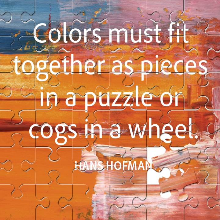 Colors Must Fit Together As Pieces In A Puzzle Or Cogs In A Wheel