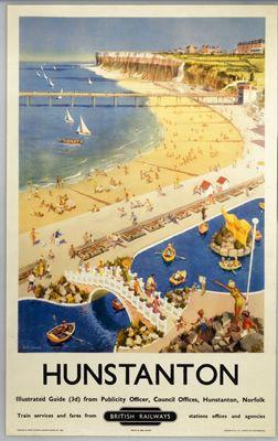 #Hunstanton #Vintage #Rail #Railway #Train #Poster #Posters #Prints #Print #Art #UK #Britain #British #Old #Travel #Norfolk www.vintagerailposters.co.uk