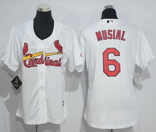 promo code cd66d 42ff0 cardinals 6 stan musial white team logo fashion stitched mlb ...