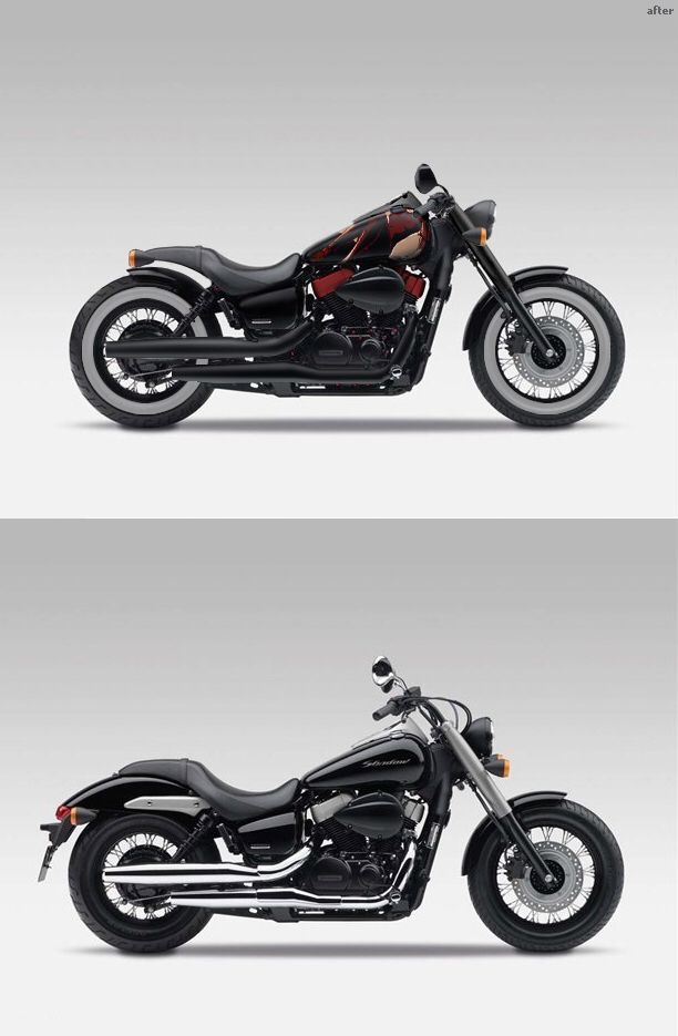 Honda Motorcycle -                                                              Honda Shadow Phantom  Before and After
