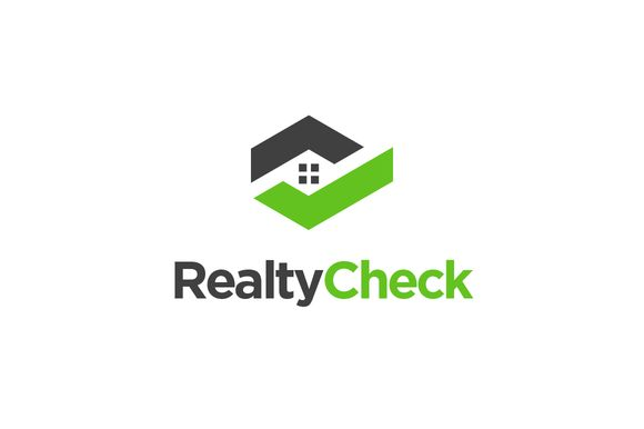 Realty Check - Real Estate Logo by SproutBox on @creativemarket