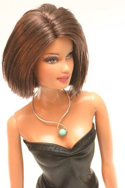 Doll SILVER jewelry: Connelly by Pinkscroll on Etsy - Barbie silver jewelry, Fashion Royalty doll silver jewelry