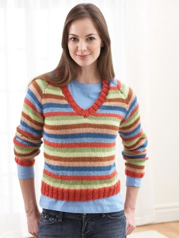Free Knitting Patterns For Turtleneck Sweaters : Striped Turtleneck Sweater Yarn Free Knitting Patterns Crochet Patterns...